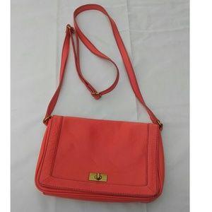 J. Crew Pink Leather Shoulder Bag